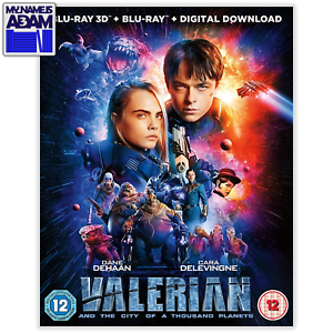 VALERIAN AND THE CITY OF A THOUSAND PLANETS Blu-ray 3D + 2D (REGION-B)
