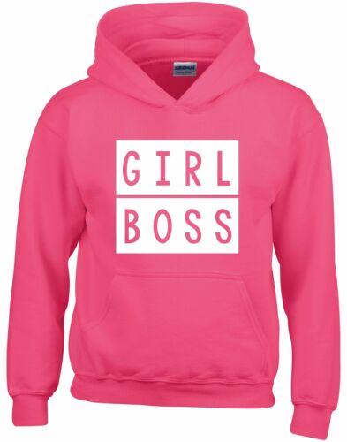 Girl Boss Kids Hoodie