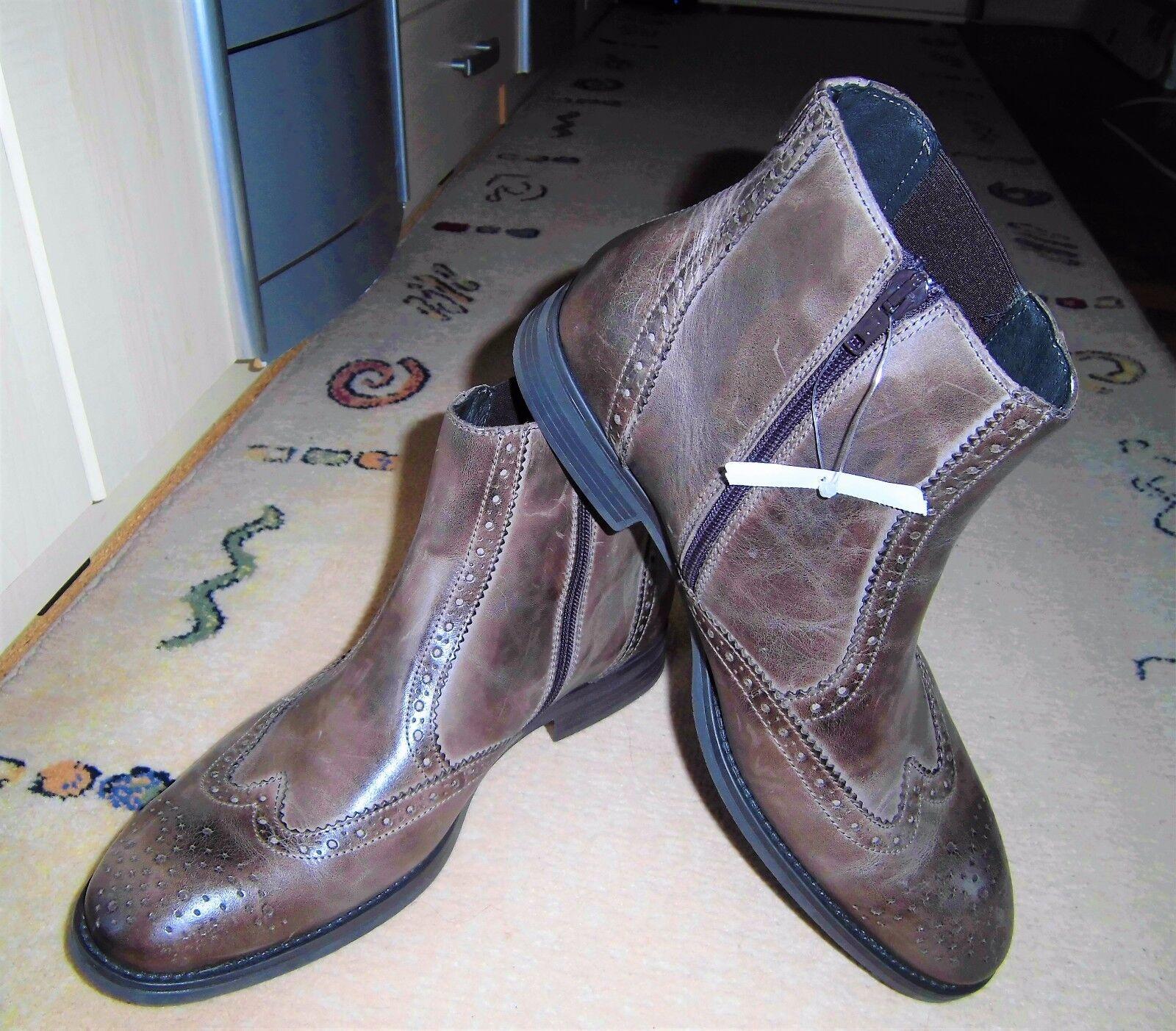 ++NEU++FRANZINI Lavorazione Artigiana Chelsea Boots ++Gr. 43++braun++Echtleder++