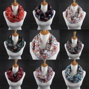 Femmes-mode-echarpe-Infinity-Cercle-Cable-Wrap-Echarpe-Chaud-Wrap-Chale-Cadeau