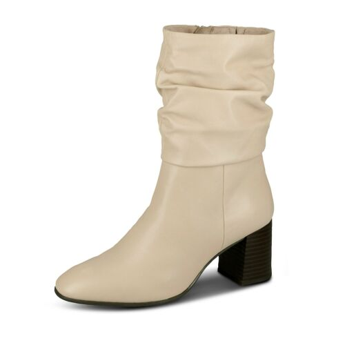 Tamaris Damen Stiefel Lederstiefel Absatzschuhe Glattlederschuhe Schuhe beige