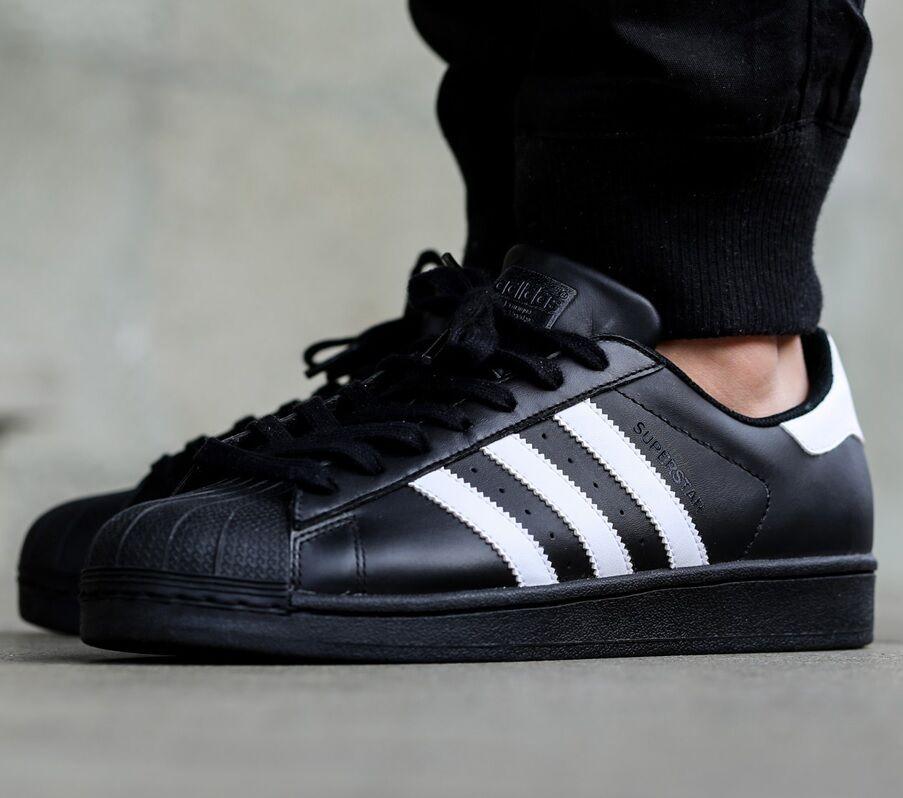 Los hombres somos 9 Adidas Originals Superstar zapatos reduccion de Foundation precio Negro / Blanco Foundation de acfe0e
