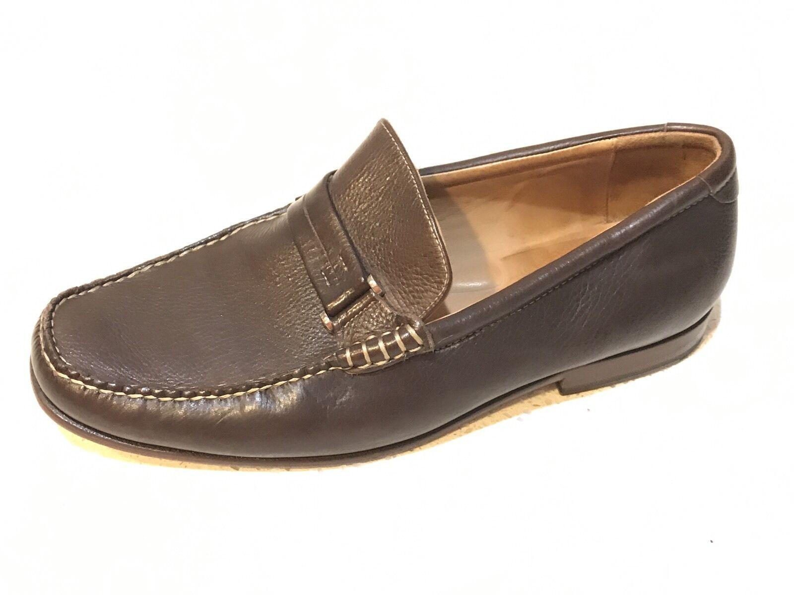 Johnston Johnston Johnston Murphy marrón de piel de cordero cuero con guijarros Bit Moc Mocasines zapatos 10.5M 0d40cc