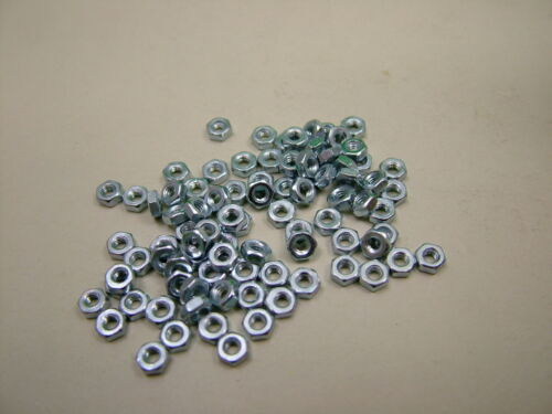 pack of 100 Hexagon nut M2 class 8 steel,bright zinc plated high tensile