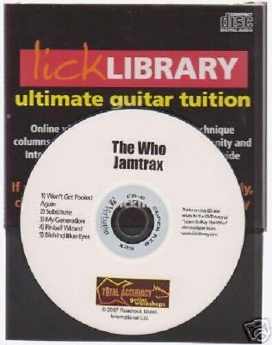 Lick Library THE WHO Guitar Jamtrax Play Jam Trax CD