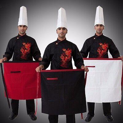 Men Chef Front Aprons Haft Waist for Kitchen Restaurant