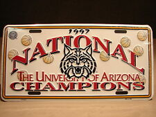 2 UofA Arizona Wildcat Basketball NCAA National College Champions License Plates