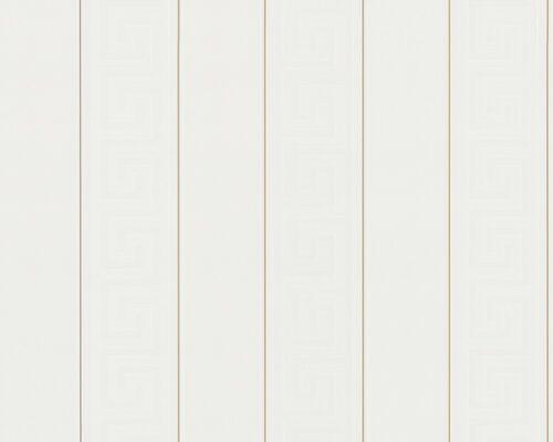 Versace Home Tapete Vlies Streifen Griechisch weiß gold 93524-1 7,93€//1qm