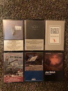 Eagles  Joe Walsh - 6 Cassette Tape Lot - Long Run  Hell Freezes  Greatest Hits