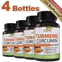 Turmeric Curcumin Complex Root + Bioperine   Advanced Formula   240 Capsules