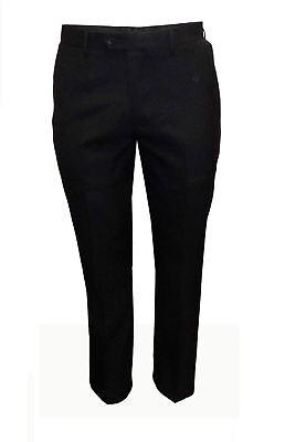Razionale Da Uomo Big Size Formale Classic Fit Tuta Pantaloni In Nero (felix), Girovita 44 A 60-mostra Il Titolo Originale