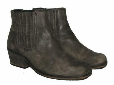 """ Topshop "" Western- Stiefeletten / Niedrige Biker- Stiefel In Dkl.- Grau Ca. 37 Mangelware"
