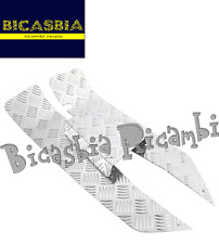 6683 - SET PEDANE TAPPETO A 3 PEZZI CROMATE VESPA 50 SPECIAL R L N BICASBIA