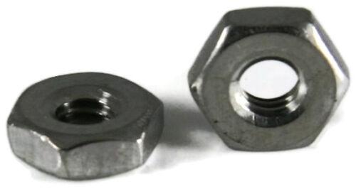 Stainless Steel Hex Machine Screw Nut Small Pattern #8-32 x 1//4 Flats Qty 100