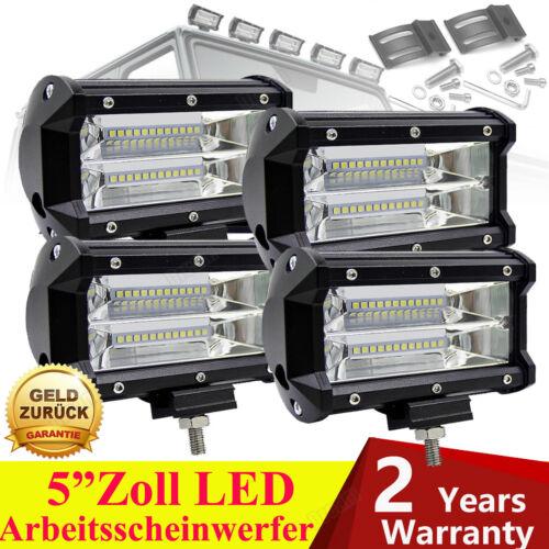 4× 5/'/' 540W LED Auto Fernscheinwerfer Zusatzscheinwerfer Arbeitsscheinwerfer KFZ