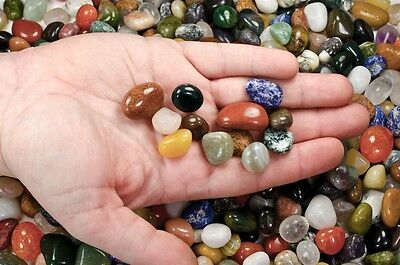 "11 Lbs Rare Indian Tumbled Stones -0.5""-0.75"" Avg.- Wire Wrapping, Reiki, Crafts"