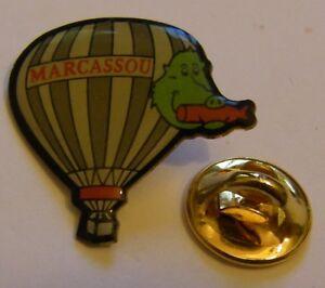 HOT-AIR-BALLOON-MARCASSOU-BOAR-vintage-Pin-Badge