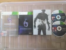 Resident Evil 6 Microsoft Xbox 360, 2012 STEELBOOK EDITION BOXED WITH MANUAL PAL