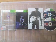 Resident Evil 6 Microsoft Xbox 360, 2012 Steelbook edición en caja con manual pal