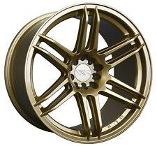 XXR 558 18X8.75 5x100/114.3 +19 Gold Rims Aggressive Fits Accord Rsx Tsx Tiburon