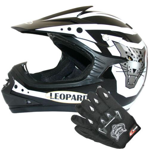 Guanti Junior LEPARD LEO-X17 Casco Motocross Bambino Casco Moto Fuoristrada