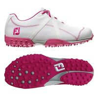 Footjoy Women's M Project White/fuschia 95615 - Choose Your Size Closeout