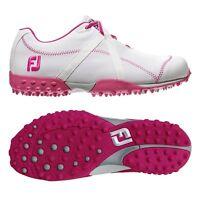 Footjoy Women's M Project White/fuschia 95615 - Choose Your Size Closeout