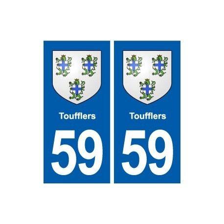 59 Toufflers blason autocollant plaque stickers ville droits