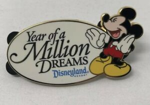 DLR-Year-of-a-Million-Dreams-Mickey-Mouse-Gift-Pin-Disneyland-Resort-2008-Disney