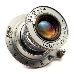Industar-10 FED 3.5/50mm (Soviet Elmar) Collapsible Lens USSR Leica LTM L39 M39