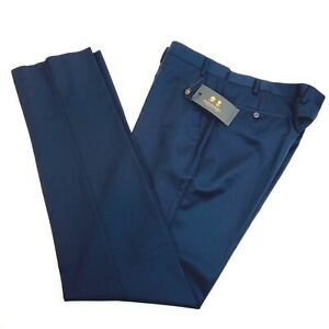 Austin Reed Wool Flat Front Dress Pants Navy Mens 40 X Unfinished Nwt Ebay