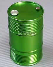 RC 1/10 Scale Accessories METAL ALUMINUM DRUM CONTAINER Liquid Storage GREEN