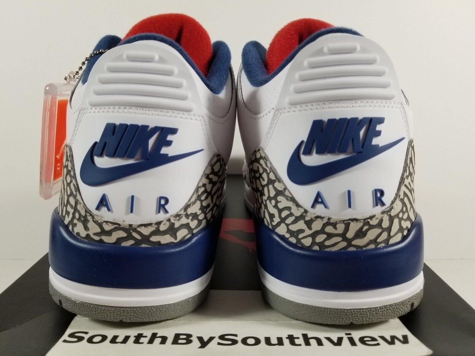 Nike Air Jordan 3 True Blue OG NikeAir 2016 With Receipt III Retro 854262-106 DS