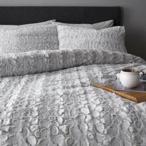 Luxury Teddy Bear Faux Fur Fleece Duvet Cover Set Soft Warm Cosy Quilt All Sizes