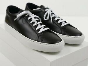 Black Leather w/White Sole/Laces 44 EU
