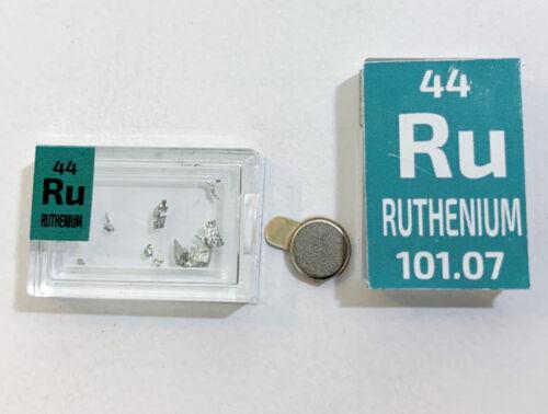 Ruthenium Metal Rare Crystals Ru 99.999/%  pure in Periodic Element tile