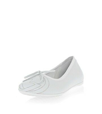 NIB NEW Gucci Girls white leather GG