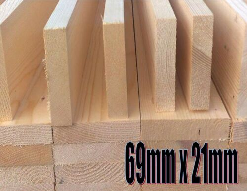 69mm x 12mm PDS Planed redwood pine kiln dried straight woodworking shelving