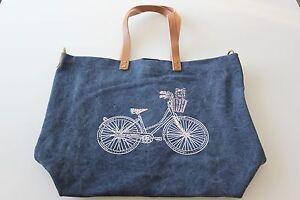 Hof 97 Cuir Ba 3074 En Sac De Avec Toile Strass Vom amp; Bleu À Poignée Bicyclette xHx8Pw