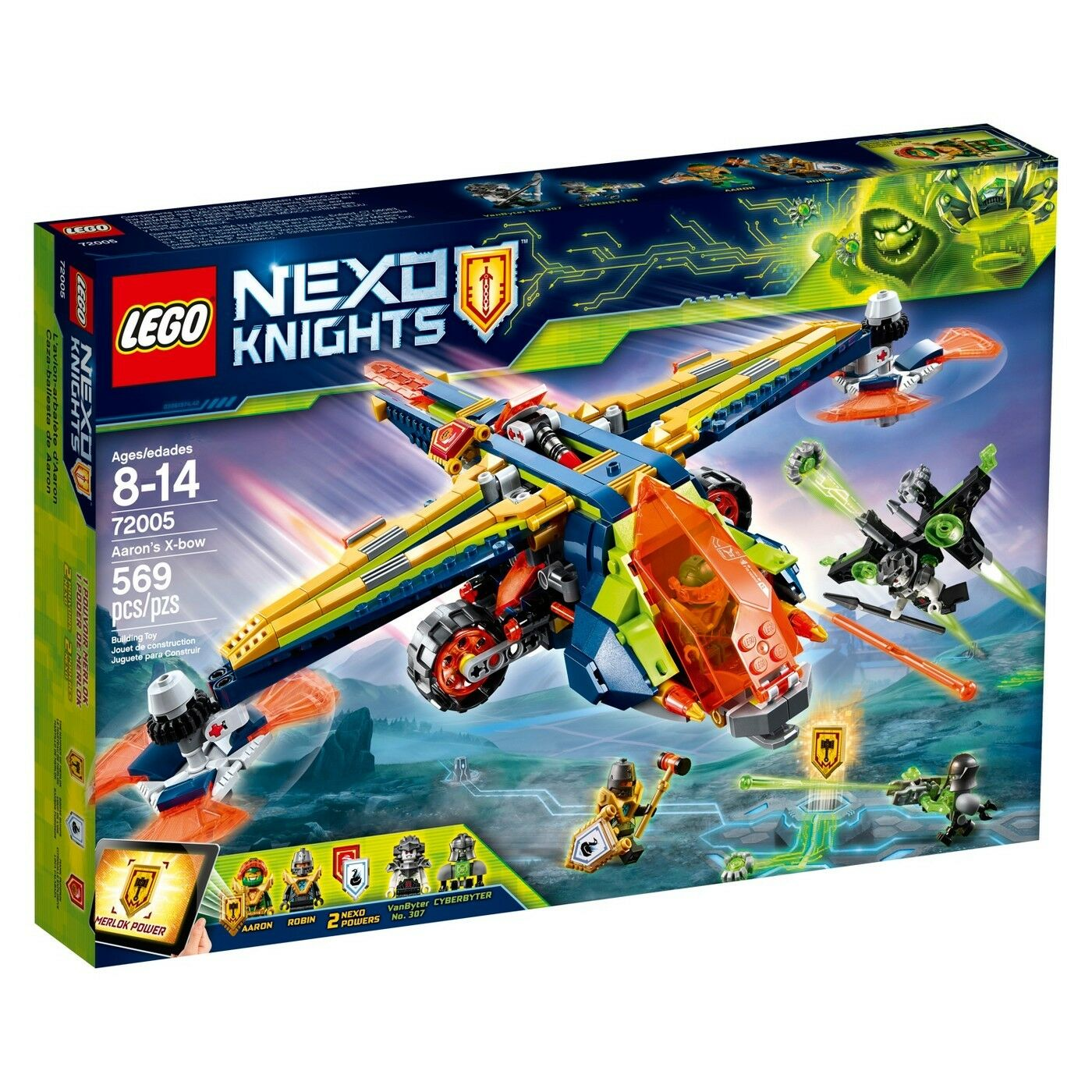 NEW Sealed LEGO NEXO KNIGHTS 72005 569 pc Ages 8-14 Aaron's X-Bow