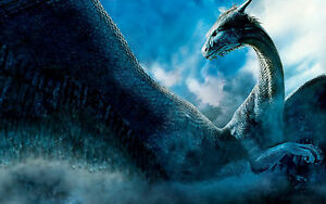 Framed print massive mythical blue dragon picture poster image is loading framed print massive mythical blue dragon picture poster voltagebd Choice Image