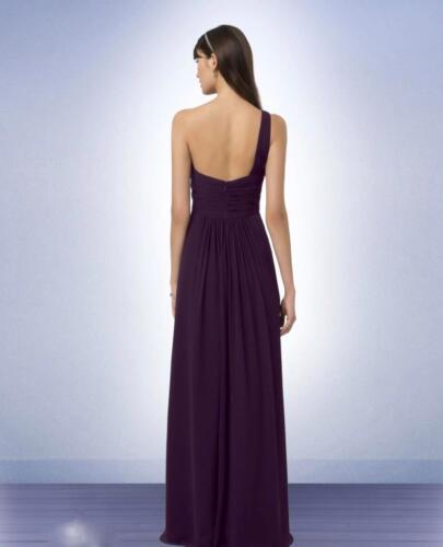 Bill Levkoff Bridesmaid Dress 771 Prom Wedding Chiffon Long Gown One Shoulder