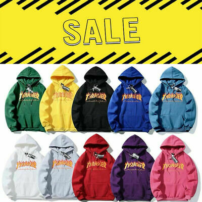 Men//Women Hip-hop Hoodie Basic Skateboard Thrasher Sweatshirts Sweater////