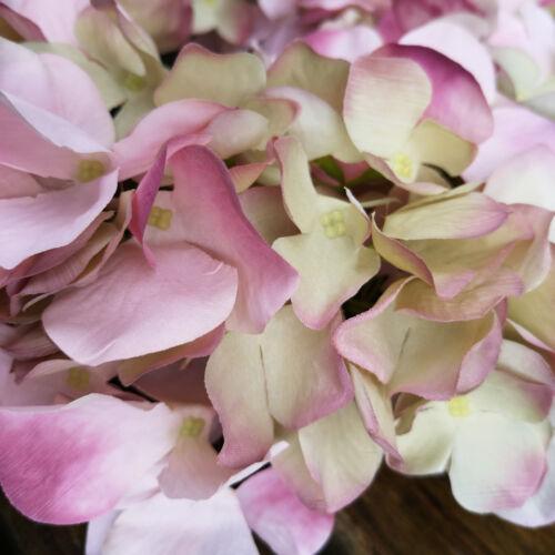 Kranz Tischkranz Blumenkranz Blüten 30cm Türkranz Hortensie Wandkranz Rosa Grün
