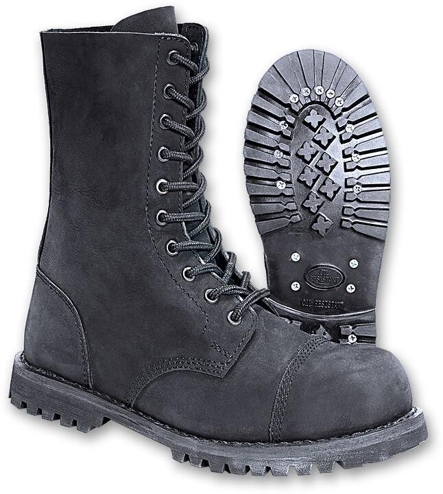 PHANTOM camoscio boots 10 10 boots fori Nubuck Springer Stivali, Nero bac646