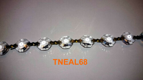 """3 Strands of 16/"""" Magnetic Bead Chain AAA REAL Crystals Garland Chandelier Swag"""