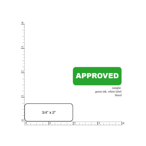 """Printed Labels 500 Custom Rectangle 3//4/"""" x 2/"""" Business Stickers 1 Color Seals"""