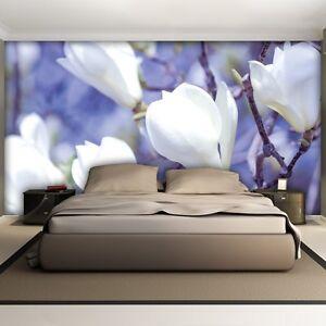 vlies fototapete fototapeten tapeten blume magnolie lila blumen 3fx1620ve ebay. Black Bedroom Furniture Sets. Home Design Ideas