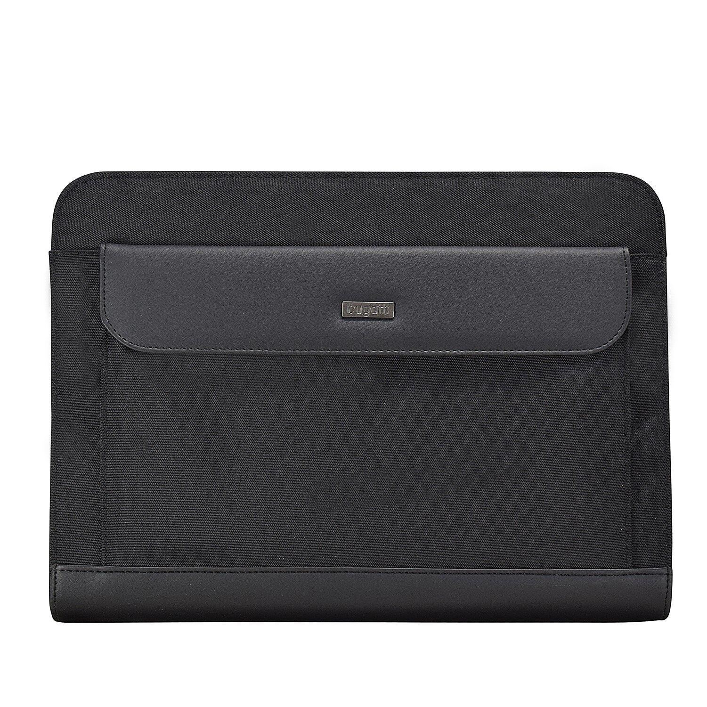 Bugatti Ufficio Schreibmappe Aktenmappe 34 cm (schwarz) | Einfach zu bedienen  | Moderater Preis  | Mode-Muster