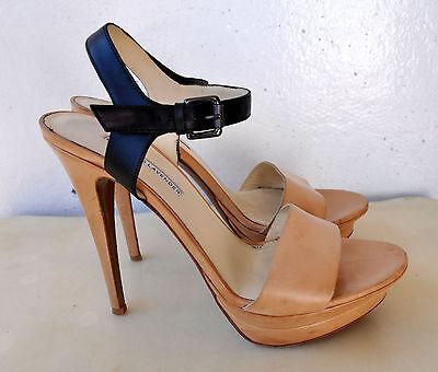Vera Wang Lavender NINA Platform Sandals Heels Leather Sz 41.5 Italy Sold Out!